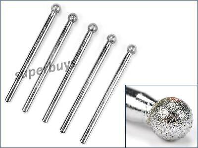 5pc Sharp Tapered Diamond Head Point Headed Tip Tipped Abrasive Rotary Drill Bit