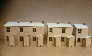 Terrace-House-backs-Laser-cut-Scratch-Aid-Layout-Kit-OO-Gauge-4mm-Model-Railway