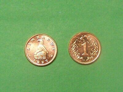 Zimbabwe 1997 1 Cent Uncirculated KM1