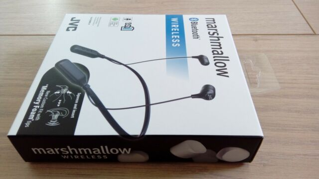 JVC HA-FX39BT-B Marshmallow Wireless Bluetooth Neckband Earphones Rich Base  Treb 5444b4a8ac