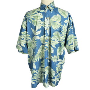 3f382bda8bbd Cooke Street Men XL Hawaiian Camp Shirt Relaxed Cotton Button Front SS  Tropical