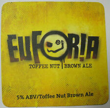 EUFORIA TOFFEE NUT BROWN ALE Beer 5% COASTER, Mat, DuClaw, MARYLAND 2014 issue