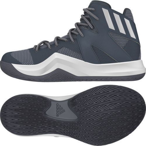 Buy adidas Crazy Bounce Mens Basketball Shoe 12 Synthetic Textile Rubber  Onix White Grey online  e3b530689