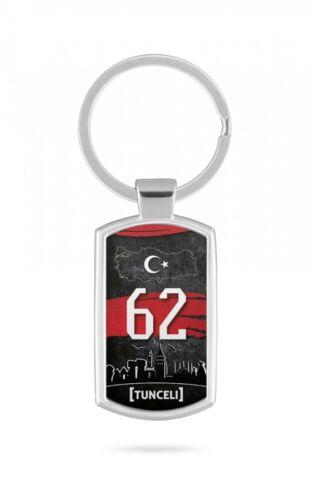 Schlüsselanhänger Türkei Tunceli 62 Türkiye Plaka V2