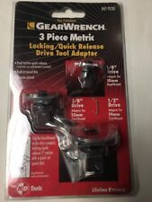 GEARWRENCH 9230 3 Piece Metric Ratcheting Wrench Drive Adapter Set 9230D