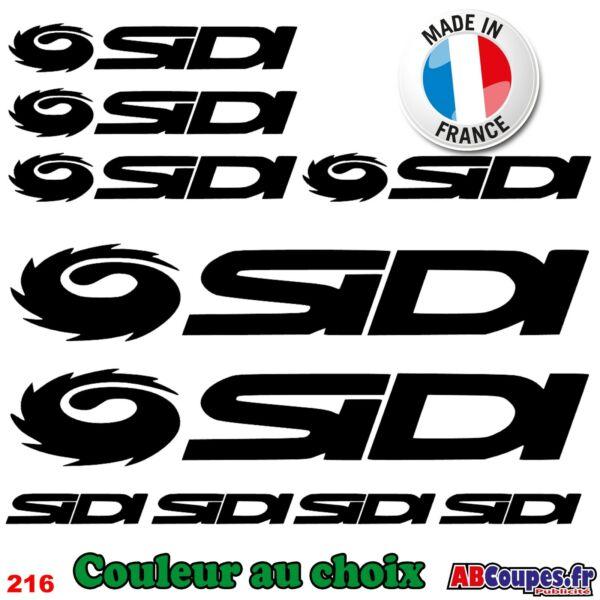10 Stickers Sidi - Autocollants Adhésifs Cadre Velo Bike Chaussures Shoes - 216 Regalo Ideale Per Tutte Le Occasioni