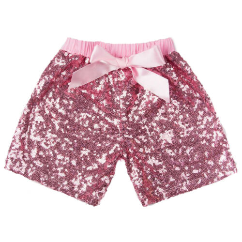 Toddler Baby Girls Bowknot Shorts Sequins Pants Birthday Party Outfit Costume