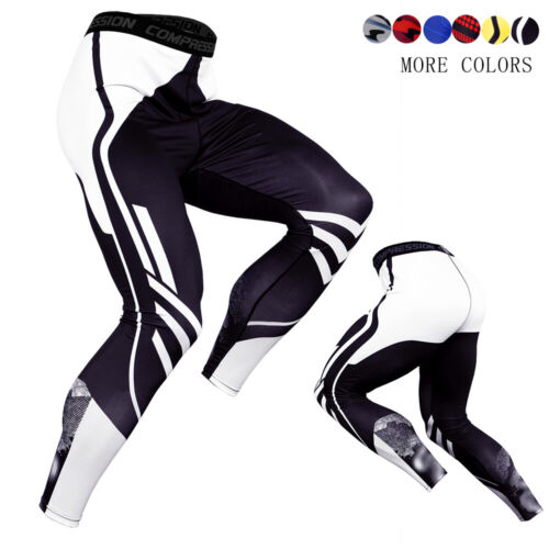 Men/'s Compression Pants Running Baselayer Cool Dry Sports Tights Camo Tight fit