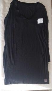 Calvin-Klein-Women-039-s-Black-Pyjama-Top-Nightie-Tunic-Size-S