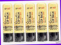 5 Bath & Body Works Co Bigelow Lemon Lip Balm Chap Stick Natural Lemon Extract