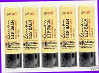 5 Bath & Body Works Co Bigelow Lemon Lip Balm Chap Stick Natural Lemon Extract