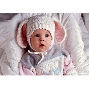 Details about Crochet Pattern Baby Hat Bonnet Cute Floppy Bunny Ears 5469e93274e