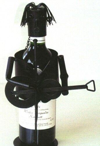 Weinflaschenhalter Gitarre Flaschenständer Deko Wein Gitarrist Flasche