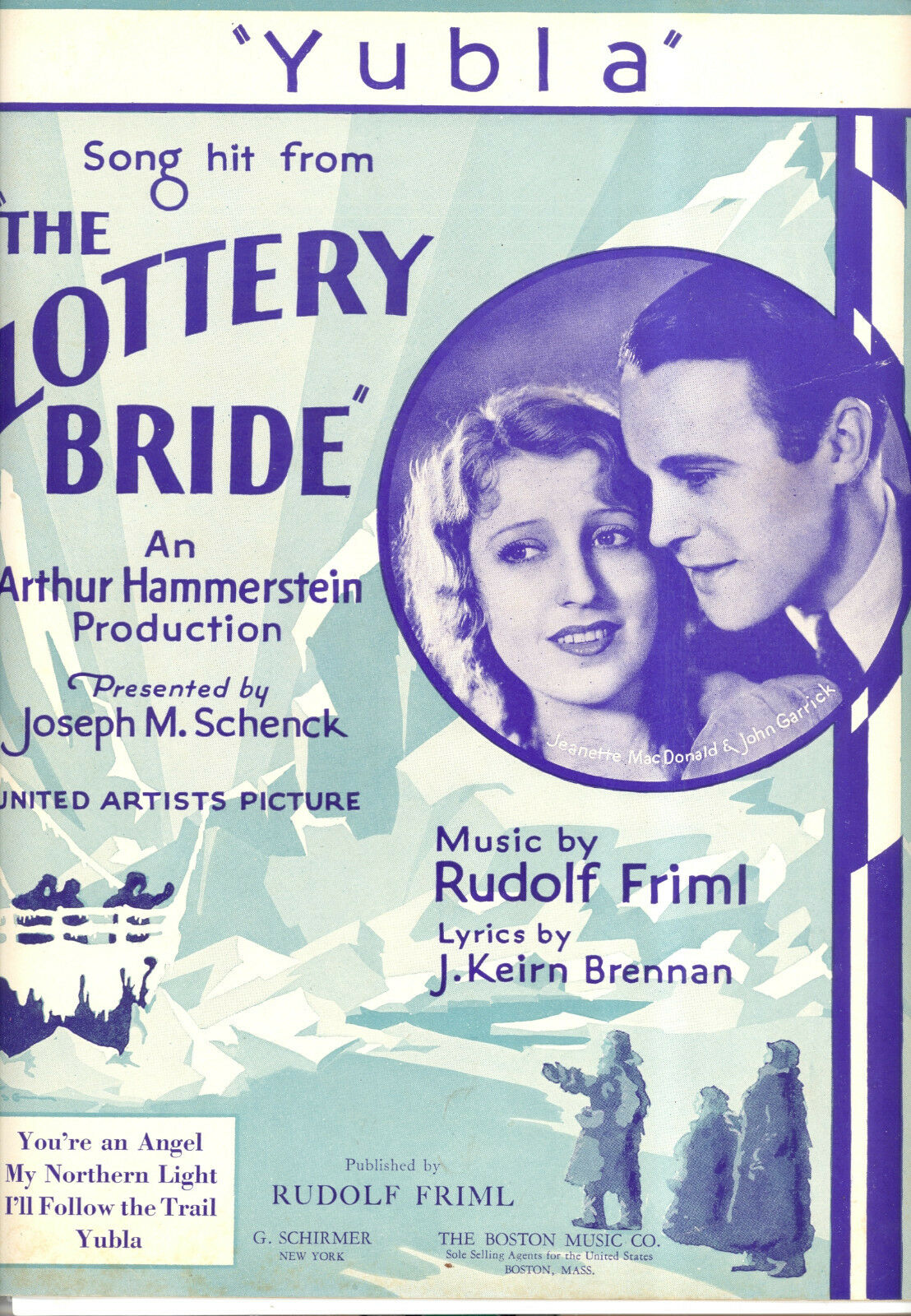 THE LOTTERY BRIDE Sheet Music
