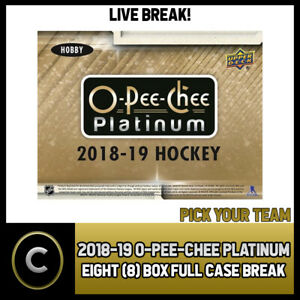 2018-19-O-PEE-CHEE-PLATINUM-HOCKEY-8-BOX-CASE-BREAK-H359-PICK-YOUR-TEAM