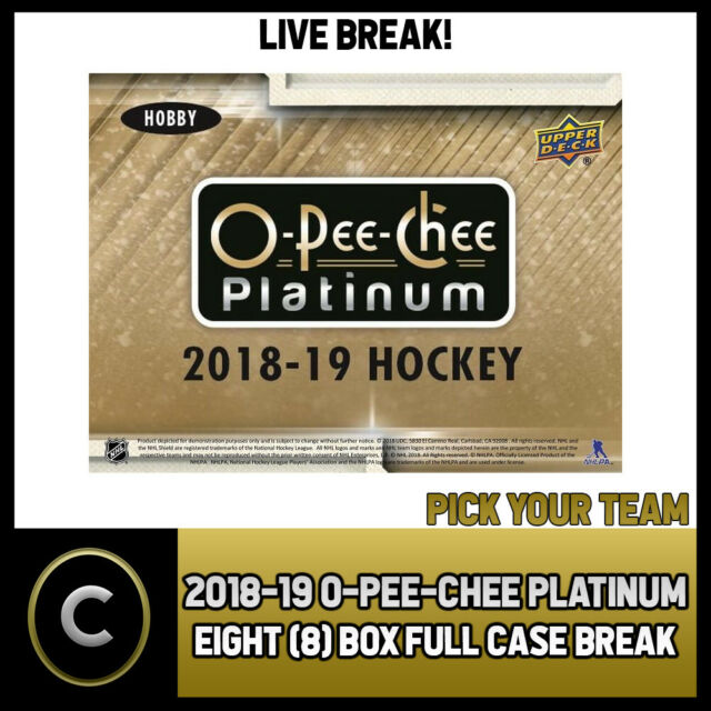 2018-19 O-PEE-CHEE PLATINUM HOCKEY 8 BOX (CASE) BREAK #H343 - PICK YOUR TEAM -