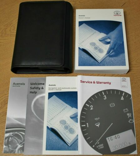 GENUINE TOYOTA AVENSIS OWNERS MANUAL HANDBOOK WALLET SERVICE PACK 2011-2015 BOOK