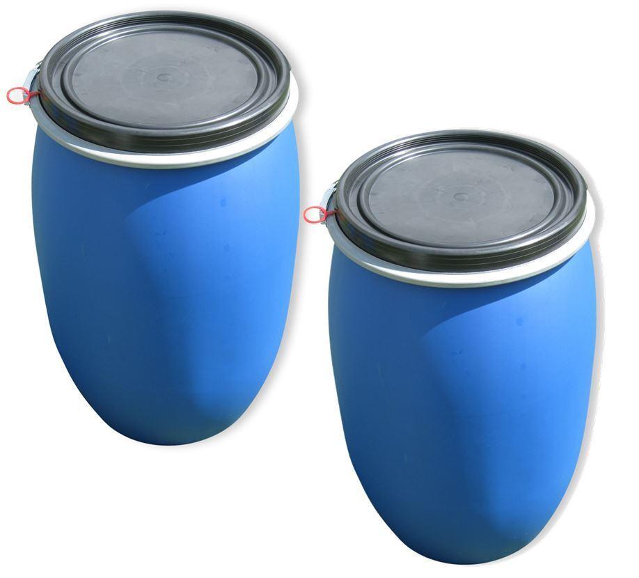 2 2 2 x 120 Liter Kunststofffass Deckelfass Futtertonne NEU & UNBENUTZT 1ff4fd