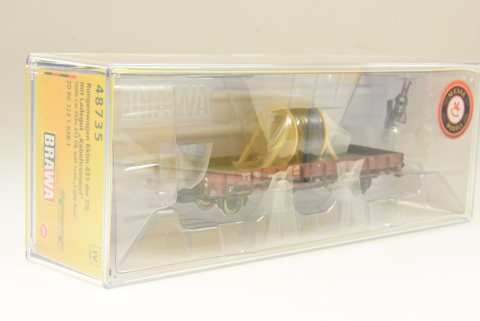Brawa H0 48626 offener Güterwagen E-52 Omm Ladegut Seilbahngondel DB NEU und OVP  | Outlet Online Store