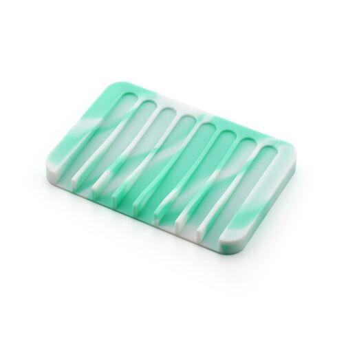 Soap Dish Non-slip Draining Case Silicone Holder Bathroom Toilet Soapbox Storage