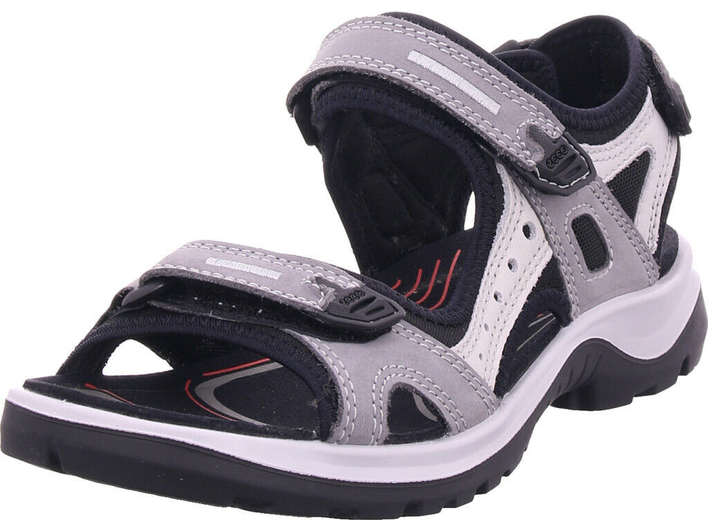 Ecco Damen  Sandale Sandalette Sommerschuhe grau