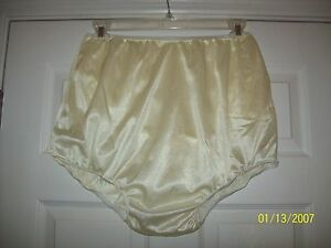 2 FULL LAYERS Black NYLON TRICOT Bubble PANTY Sleeve Pocket BRIEFS 36-44  1X Underwear