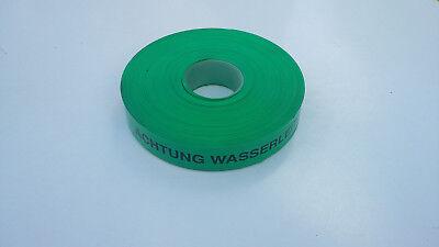 "1 Rolle 250 M Warnband Trassenwarnband Markierungsband ""achtung Wasserleitung"" Up-To-Date-Styling"