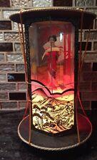 Japan Geisha Girl Night Light Bedside Lamp Vintage Oriental Asian Wood Decor