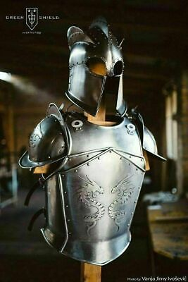 Medieval Full Body Dragon Armor Suit Larp Costume Lotr Breastplate Cuiress Helm Ebay Dragon knight armor is a lore friendly, stand alone, heavy set for both genders and all races. ebay