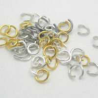 NEW Mix Gold Black SILVER PLATED Metal JUMP RINGS! 4,5,6,7,8MM Connectors pick