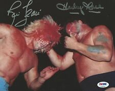 Ric Flair & Harley Race Signed WWE 8x10 Photo PSA/DNA COA NWA Picture Autograph
