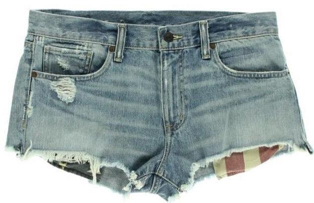 Ralph Lauren Shorts Destroy Cut Off Mini Size 31 AU13 NEW Womens Denim & Supply