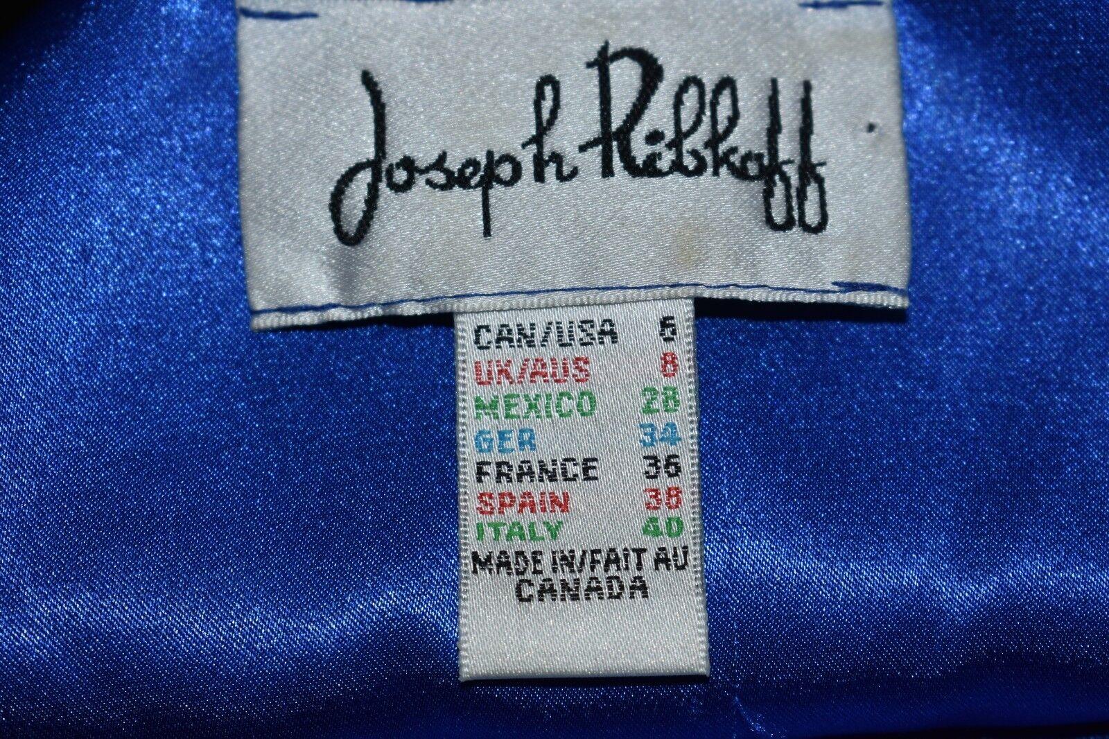 JOSEPH RIBKOFF RIBKOFF RIBKOFF  269 bluee Floral Shift Dress Slit Sleeves Size 6 b77ce6