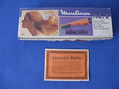 Beliebte Marke Moulinex Set Warmluft-frisierkamm Type 286 2.00 Mit Ovp ! - Gebraucht - Selten! Neueste Mode