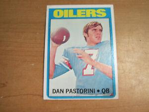 Dan Pastorini Rookie Card 1972 Topps #156