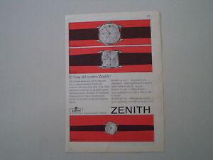 advertising-Pubblicita-1960-OROLOGI-ZENITH