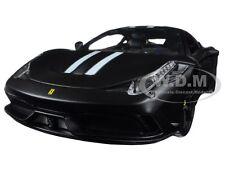 FERRARI 458 MATT BLACK SPECIALE SIGNATURE SERIES 1:18 MODEL CAR BBURAGO 16903