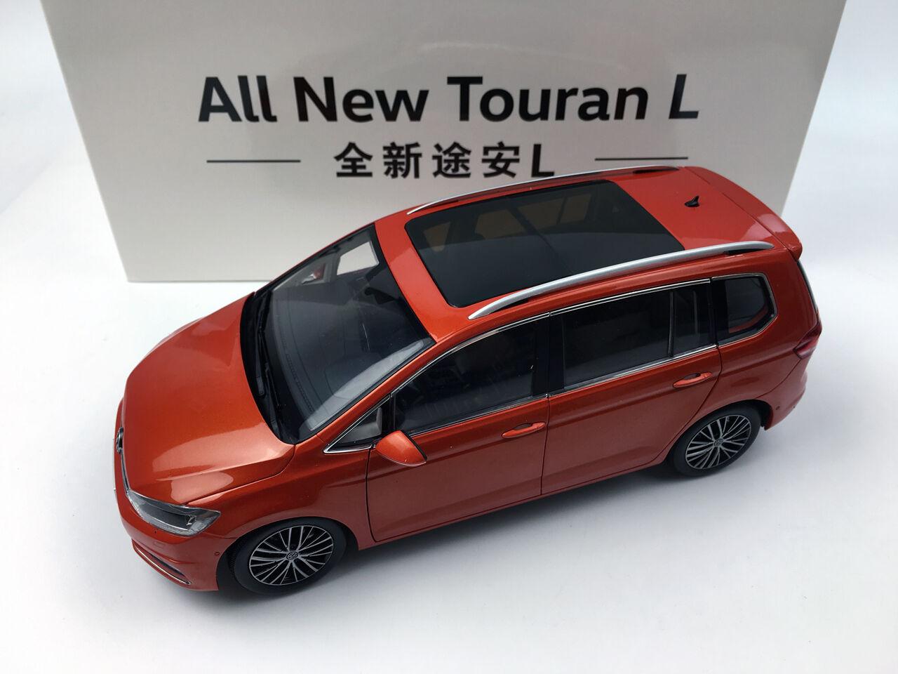 1 18 Shanghai Volkswagen todos los nuevos Touran L arancia Modelo de Metal Fundido a Troquel