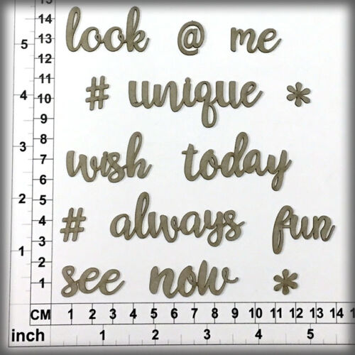 Cardmaking Assorted Words 296116 Chipboard Embellishments for Scrapbooking