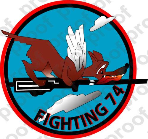 STICKER USN VF 74 FIGHTER SQUADRON FIGHTING