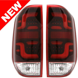For 2014-2017 Toyota Tundra LED Tail Lights w/ Red Light Bar Lens