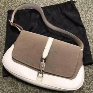 b46035d6c3fc74 Auth Gucci Shoulder Bag Multi OLD Gucci Vintage GG Buckle Medium ...