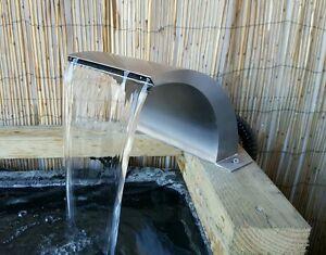 Arc incurvé en cas de chute d'eau de Koi en arc d'acier inoxydable de 200mm
