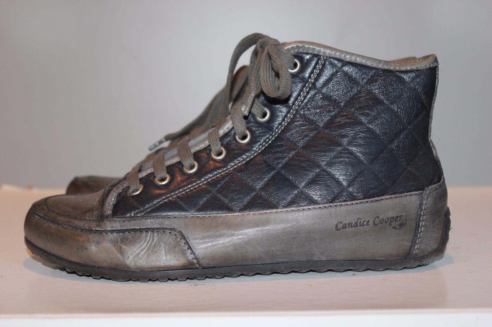 Candice Cooper sueño negro cuero cuero cuero auténtico zapatillas de deporte, talla 38, impecable  forma única