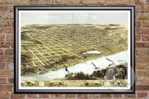 Vintage-Omaha-NE-Map-1868-Historic-Nebraska-Art-Old-Victorian-Industrial