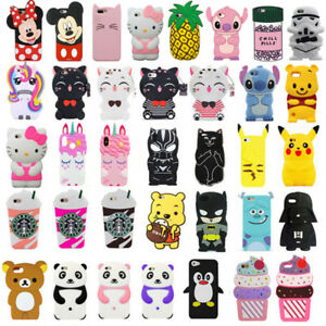 For-iPhone-iPod-Touch-5-6-3D-Case-Cover-Cute-Cartoon-Animal-Soft-Silicone-Back