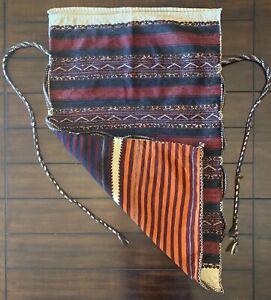 Turkish-Grain-storage-sack-made-From-kilim-rugs-Turkmen-chuval-Tekke-75x120cm