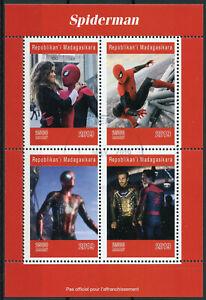 Madagascar 2019 Cto Spiderman Spider-man 4 V M/s Marvel Superheroes Timbres-afficher Le Titre D'origine Grand Assortiment