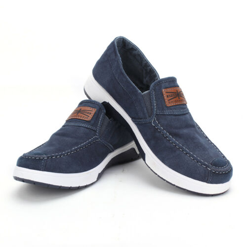 Mens Penny Loafers Moccasins Slippers Casual Lazy Flats  Slip On Canvas Shoes
