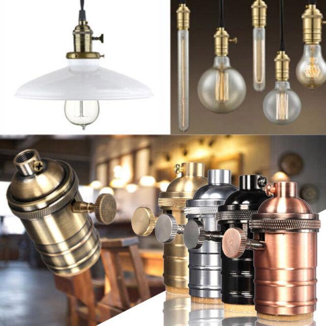 Edison Lamp Base E27 Lamp Holder Vintage Bulb Holders 3pcs Lampshade mountable DIY Lighting Fitting for Ceiling Light Vintage Brass Light Fitting with Metal Clip PEBA ES Screw Bulb Lampholder